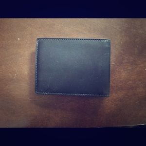Men's Leather Coach Blindfold Wallet